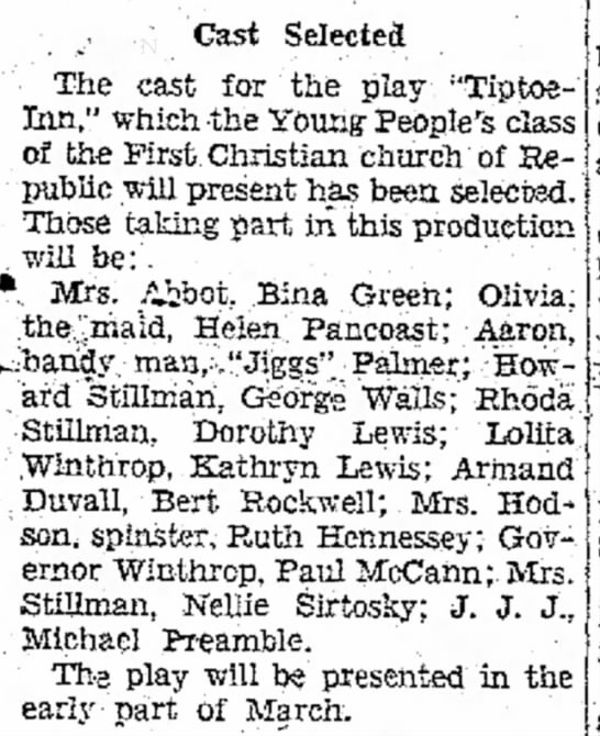 cast selected - bina green page 3 the evening standard february 8 1938 -