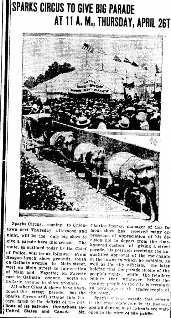 Sparks Elephants 4-20-1928