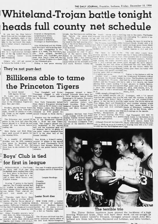 county tourney dec 1964 -