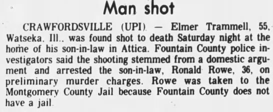 Elmer Trammell Buried In McCreary County Ky - Newspapers com