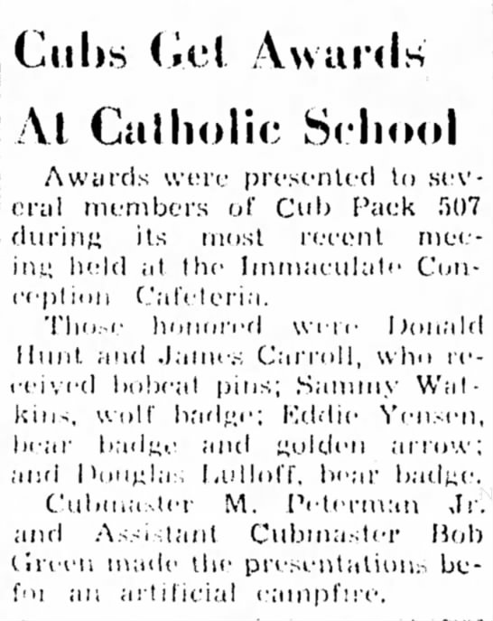 - Cuhs (iel Awards' Al Catholic School j Awtirds...