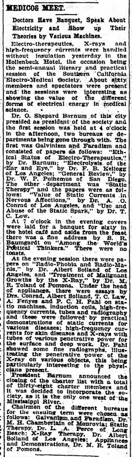 Medicos meet (radiophobia) (1903) -