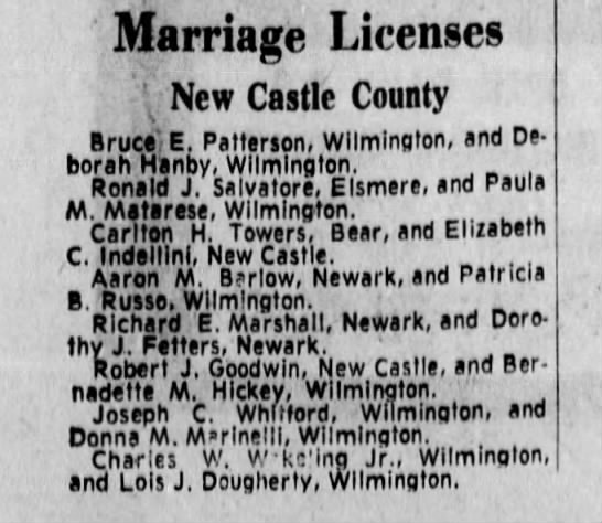 Carlton county marriage records