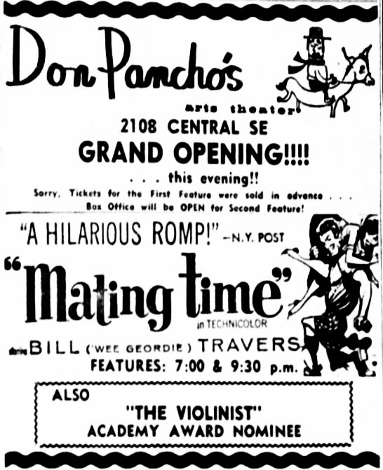 Don Pancho's Art Theatre opening -