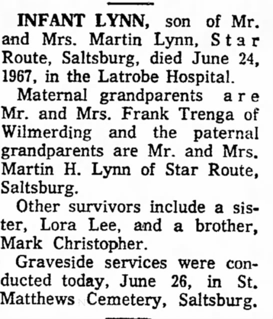 Granddaughter of Frank Trenga -