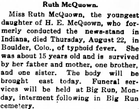 Ruth McQuown obit - practice deal of as a MONEY railroads Ruth...