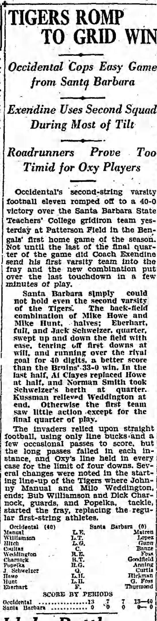 Tigers Romp to Grid Win -