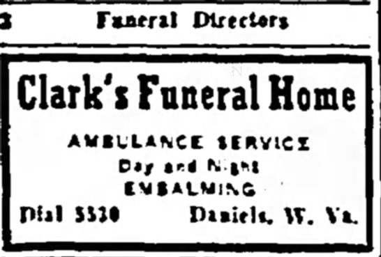 Grandpa Clark's Ad in the Raleigh Register Newspaper, 23 April 1943. -