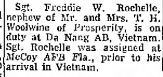 T H Woolwine - Sgt. Freddie W. Kochclle, nephew of Mr. and...