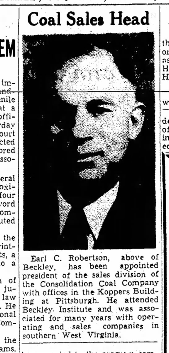Beckley Post-Herald ECR New Job 4 19 1946 -