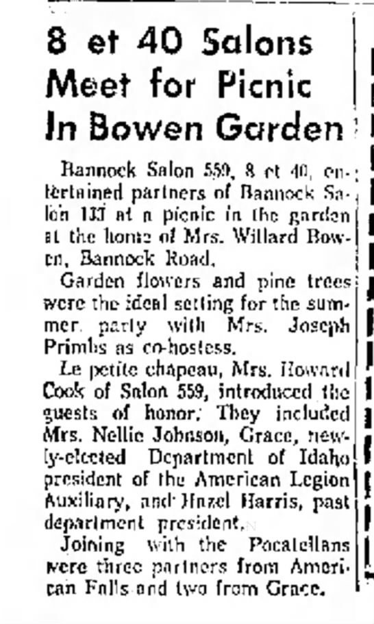 8 et 40 Salons, Marie Bowen garden - 8 et 40 Salons \ Meet for Picnic In Bowen...