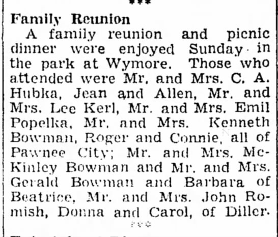 Kerl, Mrs Lee 4 Aug 1944 -