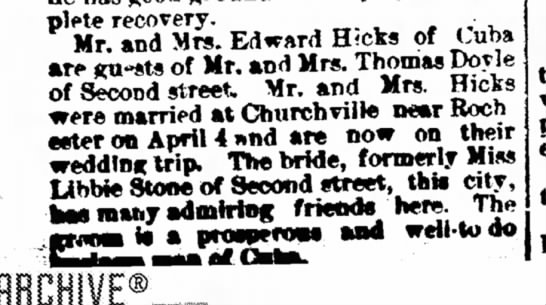 Marriage edward hicks -