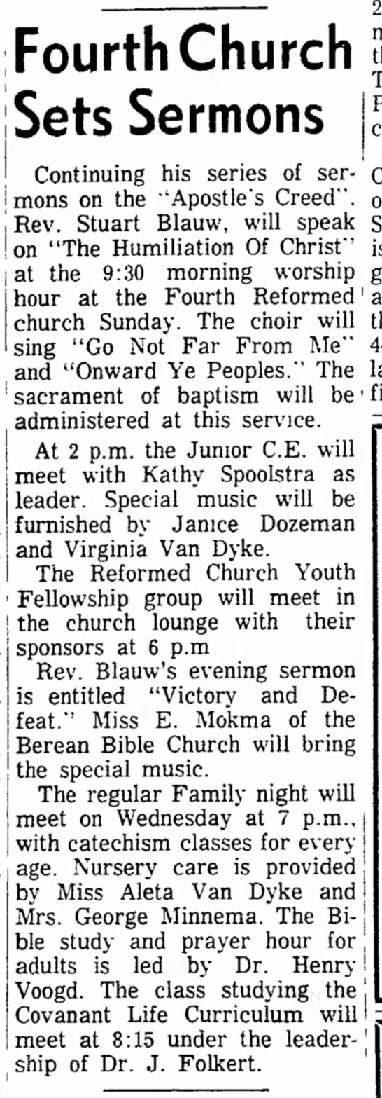 Spoolstra, Kathy 19631108; The Holland Evening Sentinel, Holland, MI -