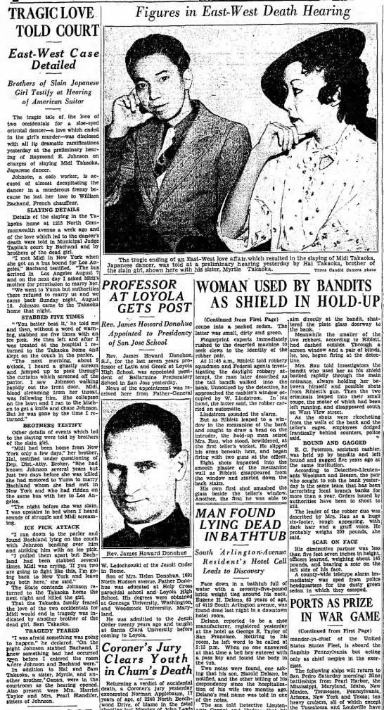 Raymond Johnson murder case. Takaoka photos. -