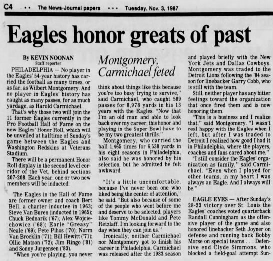 Eagles honor greats of past -