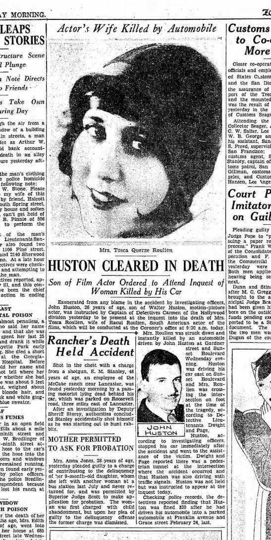 Tosca Querze Roulien killed -
