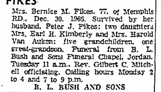 Bernice Fikes,Wife of Peter J. Fikes -