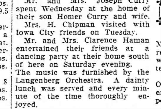HAMAN APRIL 13 1921 -