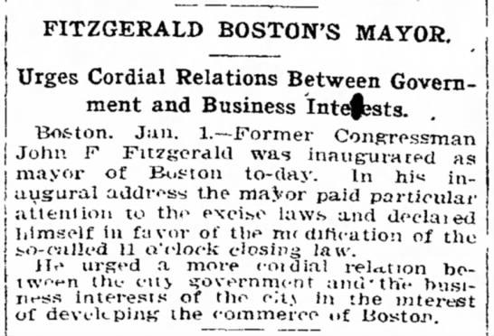 Fitzgerald Boston's Mayor -