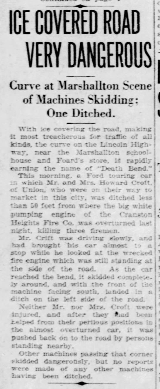 CHFCo. 3-LODD (16Jan1926) News Journal-Every Evening (Front Page-Death Bend / Part-3) -