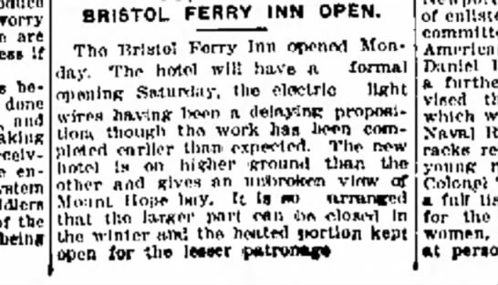 Bristol Ferry Inn -