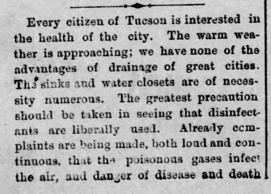 Daily Star calls for improved sanitation in Tucson (cont'd in next column) -