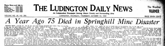 I was born in Springhill in 1956.  I lost family members in the disaster. -