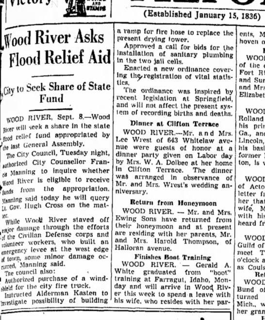 F Manning - (Established January IS, [food River Asks Flood...