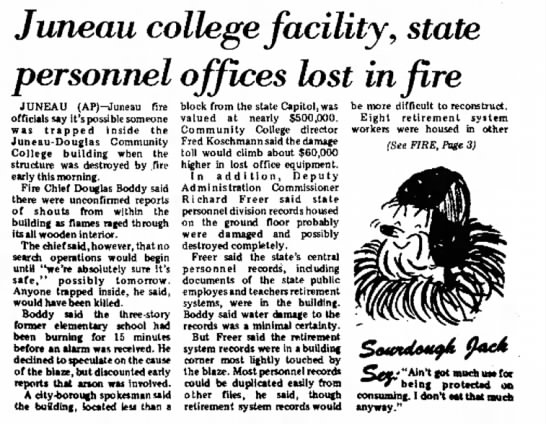 CommCollegeFire 22Feb1972 pg1 -