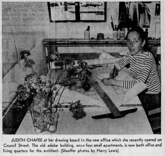 Judith Chafee at her Tucson office -