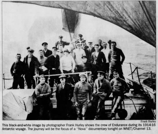 Shackleton and crew on Endurance -