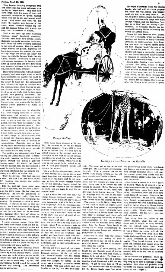 Downie Truck 3-29-1931