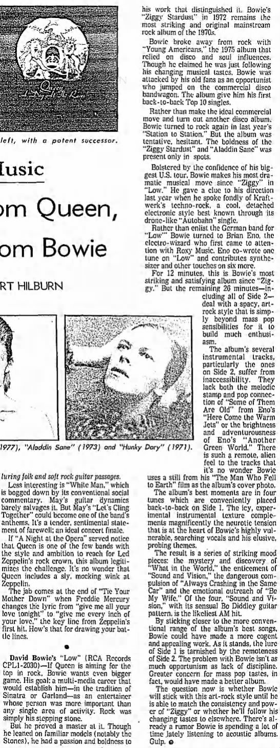 Platinum From Queen, Icy Steel From Bowie -