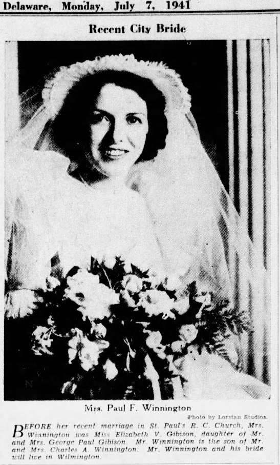 7 Jul 1941- Mrs Paul F Winnington News Journal -