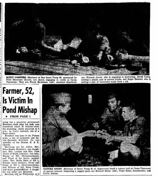 David Camp Boy Scout Troop 99 Camp Tuscazoar 20 Jul 1959 -