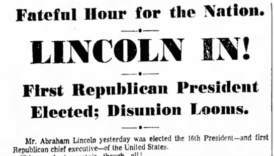 Lincoln Elected -