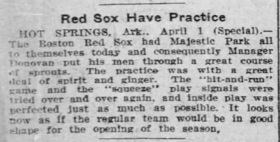Red Sox Have Practice -