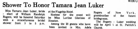 Tamara Jean Luker saved to tree -