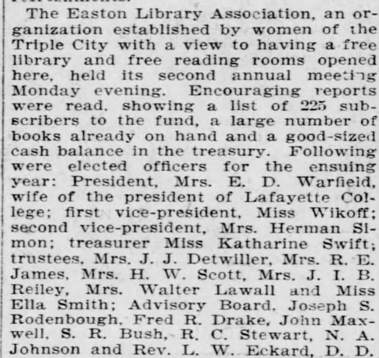 Easton Library Association -