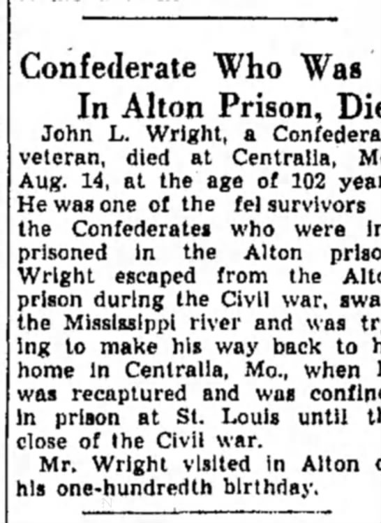 Escape from Alton Prison by swimming the Mississippi River -
