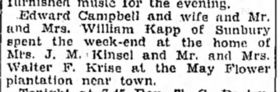 Krise, Walter 17 Sep 1930 -