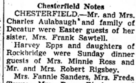 Harvey Epps - Chesterfield Notes CHESTERFIELD.—Mr. and Mrs....