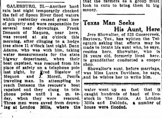 Frank Donason (Alton Evening Telegraph) Alton, Illinois 22 Aug 1924 -