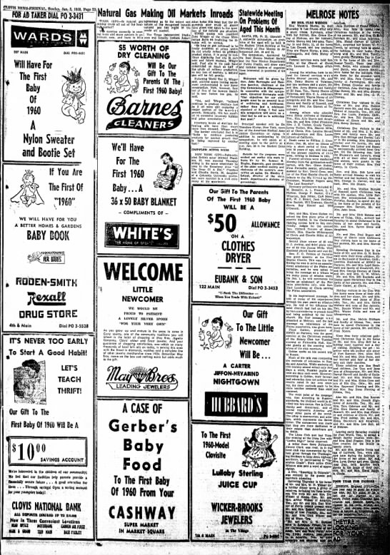 Part Two of 1960 Baby's winnings! -