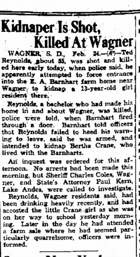 Emmett Barnhart - 24 Feb 1931 - Daily Plainsman, Huron SD -