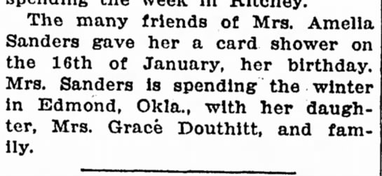 Mrs Grace Douthitt