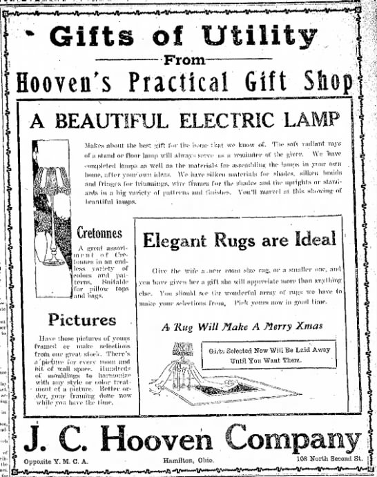 Gifts of Utility  From  Hoovens Practical Gift Shop -