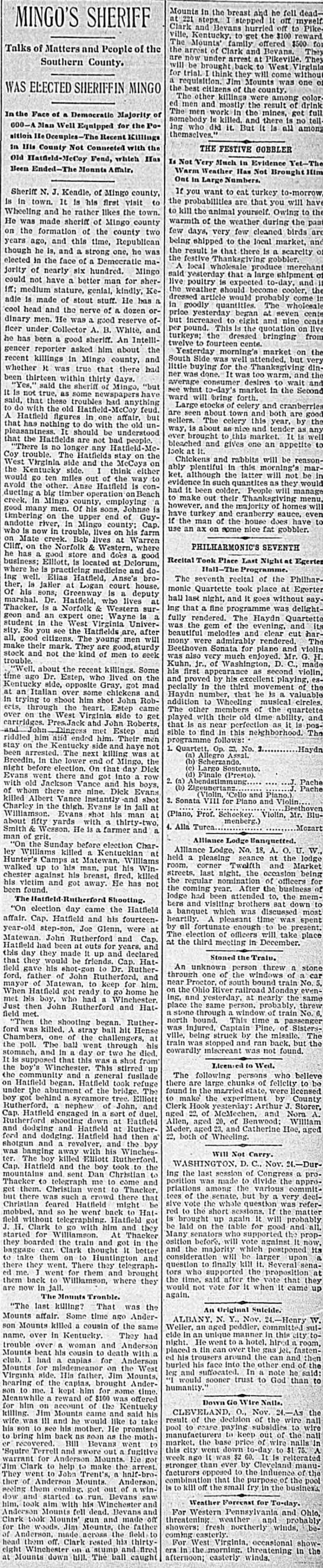 Mingo County 1896 -