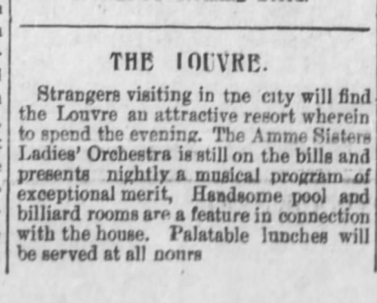 The Morning Astorian, Aug. 14, 1900 page 3, column 3 - THE I01VKE. Strangers visiting In tne city will...